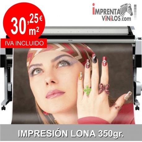LONA EXTERIOR IMPRESA 350Gr